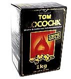 4x 1kg Kohle Natur in Tom Cococha Gold für Shisha und...